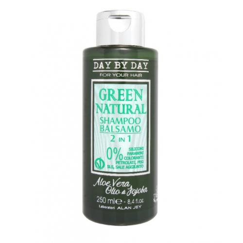 Alan Jey Безсульфатный шампунь-бальзам 2 в 1 Green Natural Shampoo Balsamo 2 in 1 250 мл