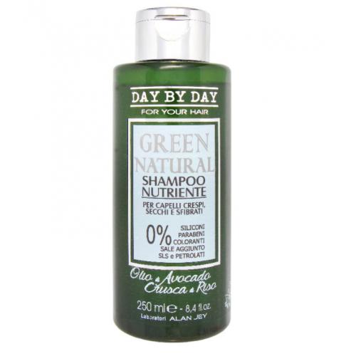 Alan Jey Безсульфатный шампунь питательный для вьющихся, сухих и поврежденных волос Green Natural Shampoo Nutriente 250 мл