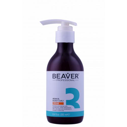 Beaver Professional Крем моделирование упругих локонов с Аргановым маслом Argan Oil Bouncy-curly Cream 250 мл