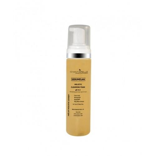 Chantarelle Осветляющая и нормализующая очищающая пенка pH 4,5 Sebumelan Holistic Cleansing Foam 200 мл