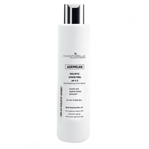 Chantarelle Осветляющий омолаживающий скраб-пилинг с аскорбиновой кислотой рН 4,5 Agemelan Holistic Ascorbic Scrub Peel pH 4.5 200 мл