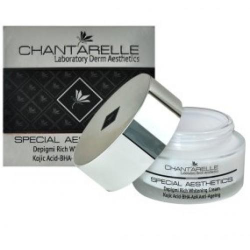 Chantarelle Антивозрастной депигментирующий крем с коевой кислотой Depigmi Rich Whitening Cream 50 мл