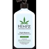 Нежный крем для тела тройного действия с растительными экстрактами Hempz Triple Moisture Herbal Whipped Body Creme