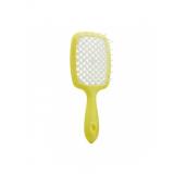 Janeke 1830 Superbrush Расческа для волос Желтая c белым