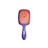 Janeke 1830 Superbrush Расческа для волос Фиолетовая с оранжевым