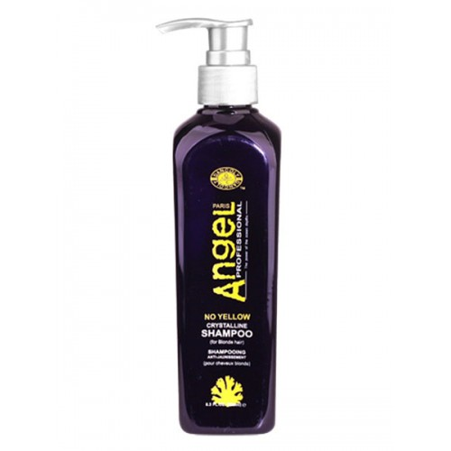 Angel Professional Шампунь для нейтрализации желтого оттенка Crystalline Shampoo